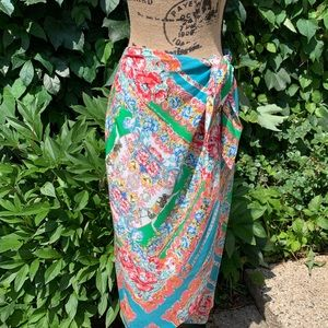 Maeve by Anthropologie Silk Wrap Skirt